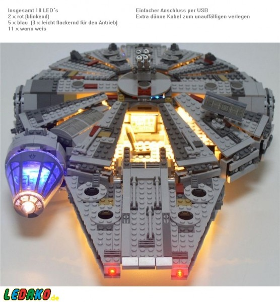 29,LED Set für Lego® Millenium Falcon 24 LED´s 75105, 7965 & 4504 UCS