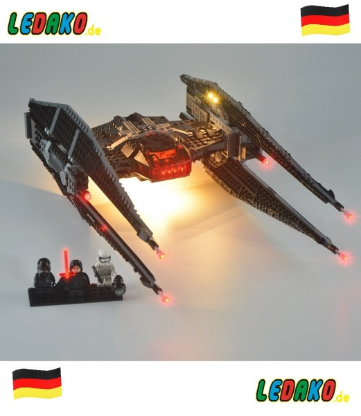 LED Set für Lego® Kylo Ren Tie Fighter 75179 Star Wars™ by ledako